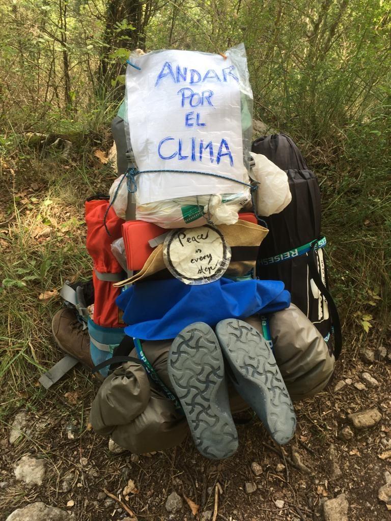 Dagmar läuft über die Pyreneen, statt den Flieger zu nehmen: Laufen für's Klima Foto: Dagmar Falk