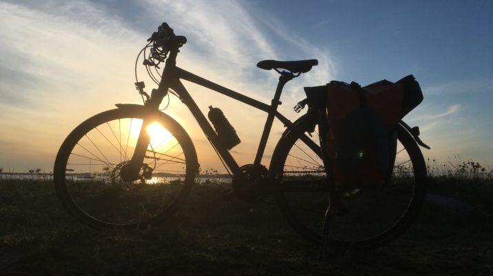 Fahrrad im Sonnenuntergang, Foto: Dagmar Falk