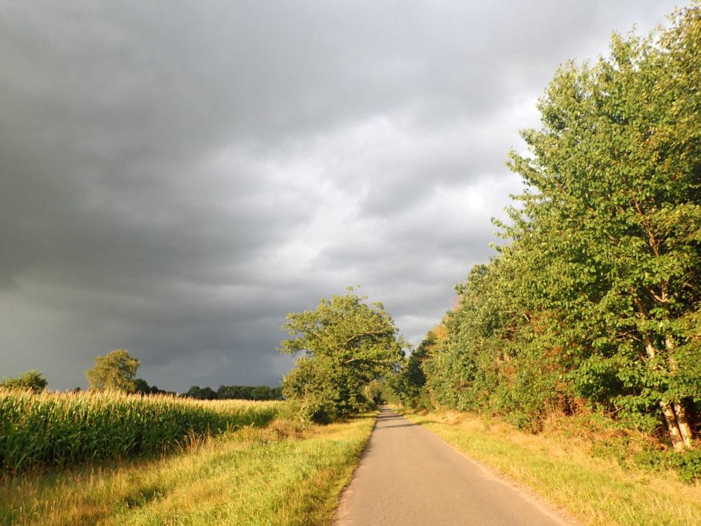 Straße mit dramatischem Himmel Foto © Dagmar Falk